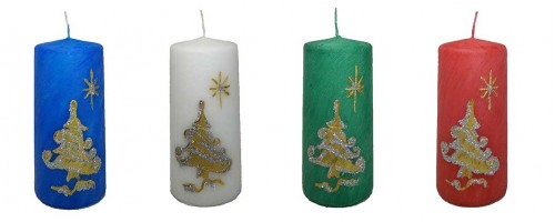 Christmas Decorative Pillar Candle - Star of Bethlehem