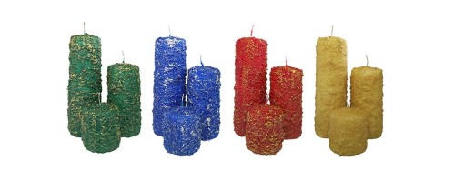 Decorative Pillar Candle - Frosted Collection