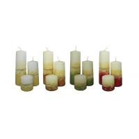 Decorative Pillar Candle - Maya Collection