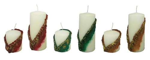 Decorative Pillar Candle - Royal Collection
